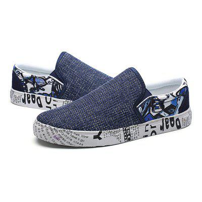 Male Stylish Fabric Slip On Pattern Leisure Boat ShoesCasual Shoes<br>Male Stylish Fabric Slip On Pattern Leisure Boat Shoes<br><br>Closure Type: Slip-On<br>Contents: 1 x Pair of Shoes<br>Function: Slip Resistant<br>Materials: Rubber, Fabric<br>Occasion: Shopping, Holiday, Daily, Casual<br>Outsole Material: Rubber<br>Package Size ( L x W x H ): 33.00 x 22.00 x 11.00 cm / 12.99 x 8.66 x 4.33 inches<br>Package Weights: 0.77kg<br>Pattern Type: Letter<br>Seasons: Autumn,Spring<br>Style: Modern, Leisure, Fashion, Comfortable, Casual<br>Toe Shape: Round Toe<br>Type: Casual Shoes<br>Upper Material: Cotton Fabric