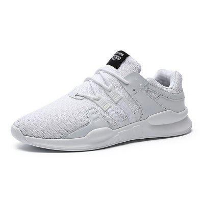 Male Knitted Athletic Lace Up Light Running SneakersAthletic Shoes<br>Male Knitted Athletic Lace Up Light Running Sneakers<br><br>Closure Type: Lace-Up<br>Contents: 1 x Pair of Shoes<br>Decoration: Weave<br>Materials: PU, Woven Fabric<br>Occasion: Sports, Running, Outdoor Clothing, Daily, Casual<br>Outsole Material: PU<br>Package Size ( L x W x H ): 32.00 x 18.00 x 15.00 cm / 12.6 x 7.09 x 5.91 inches<br>Package Weights: 0.93kg<br>Seasons: Autumn,Spring<br>Style: Leisure, Comfortable, Casual<br>Toe Shape: Round Toe<br>Type: Sports Shoes<br>Upper Material: Woven Fabric