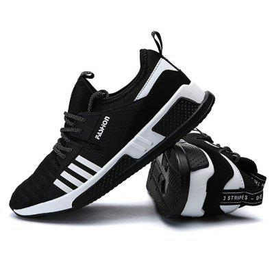 Male Lace Up Mesh Split Joint Sports Athletic Shoes