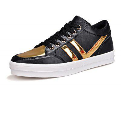 Male Split Joint Lace Up High Top Leather Casual Shoes