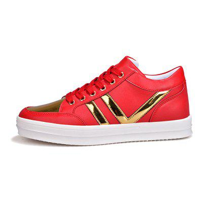 Male Stylish Split Joint Lace Up High Top PU Leather ShoesMen's Sneakers<br>Male Stylish Split Joint Lace Up High Top PU Leather Shoes<br><br>Closure Type: Lace-Up<br>Contents: 1 x Pair of Shoes<br>Decoration: Split Joint<br>Function: Slip Resistant<br>Lining Material: Mesh<br>Materials: PU, Rubber, Leather, Mesh<br>Occasion: Sports, Holiday, Daily, Casual<br>Outsole Material: Rubber<br>Package Size ( L x W x H ): 31.00 x 25.00 x 11.00 cm / 12.2 x 9.84 x 4.33 inches<br>Package Weights: 1.18kg<br>Seasons: Autumn,Spring<br>Style: Modern, Leisure, Fashion, Casual<br>Toe Shape: Round Toe<br>Type: Casual Leather Shoes<br>Upper Material: Leather,Mesh,PU