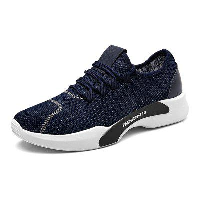 Male Knitted Lace Up Light Running Athletic ShoesMen's Sneakers<br>Male Knitted Lace Up Light Running Athletic Shoes<br><br>Closure Type: Lace-Up<br>Contents: 1 x Pair of Shoes<br>Decoration: Weave<br>Function: Slip Resistant<br>Materials: Woven Fabric, Rubber<br>Occasion: Sports, Running, Outdoor Clothing, Daily, Casual<br>Outsole Material: Rubber<br>Package Size ( L x W x H ): 33.00 x 22.00 x 11.00 cm / 12.99 x 8.66 x 4.33 inches<br>Package Weights: 0.77kg<br>Seasons: Autumn,Spring<br>Style: Modern, Leisure, Fashion, Comfortable, Casual<br>Toe Shape: Round Toe<br>Type: Sports Shoes<br>Upper Material: Woven Fabric