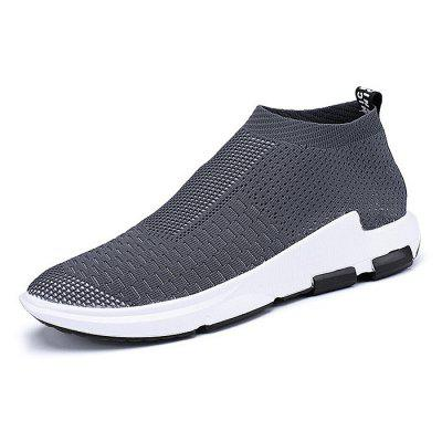 Male Knitted Slip On High Top Running Athletic ShoesMen's Sneakers<br>Male Knitted Slip On High Top Running Athletic Shoes<br><br>Closure Type: Slip-On<br>Contents: 1 x Pair of Shoes<br>Decoration: Weave<br>Function: Slip Resistant<br>Materials: Fabric, PU, Woven Fabric<br>Occasion: Sports, Running, Outdoor Clothing, Daily, Casual<br>Outsole Material: PU<br>Package Size ( L x W x H ): 25.00 x 18.00 x 11.00 cm / 9.84 x 7.09 x 4.33 inches<br>Package Weights: 0.57kg<br>Pattern Type: Solid<br>Seasons: Autumn,Spring,Summer<br>Style: Leisure, Fashion, Comfortable, Casual<br>Toe Shape: Round Toe<br>Type: Casual Shoes<br>Upper Material: Cotton Fabric,Woven Fabric