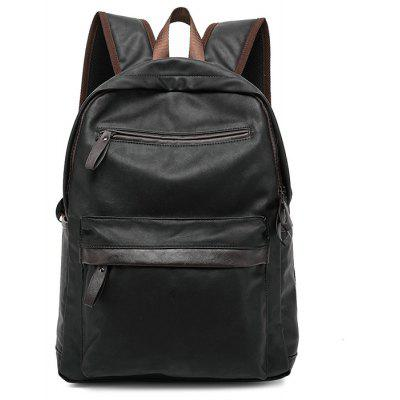Buy BLACK Fashion PU Backpack with USB Port for $36.40 in GearBest store