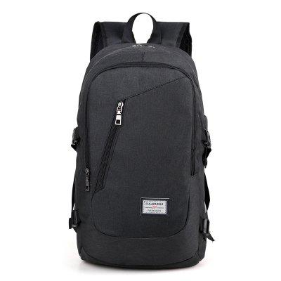 Leisure Water-resistant Laptop Backpack with USB PortBackpacks<br>Leisure Water-resistant Laptop Backpack with USB Port<br><br>Closure Type: Zip, Zip<br>Features: Wearable, Wearable<br>Gender: Men<br>Material: Oxford Fabric<br>Package Size(L x W x H): 50.00 x 29.00 x 4.00 cm / 19.69 x 11.42 x 1.57 inches, 50.00 x 29.00 x 4.00 cm / 19.69 x 11.42 x 1.57 inches<br>Package weight: 0.6500 kg, 0.6500 kg<br>Packing List: 1 x Backpack, 1 x Backpack<br>Product weight: 0.5900 kg, 0.5900 kg<br>Style: Casual, Business<br>Type: Backpacks
