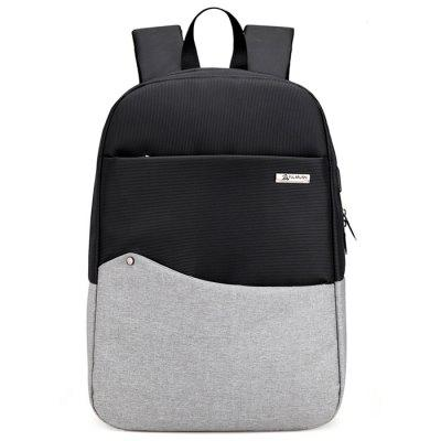 Chic Splicing Backpack with USB PortBackpacks<br>Chic Splicing Backpack with USB Port<br><br>Closure Type: Zip<br>Features: Wearable<br>Gender: Men<br>Material: Oxford Fabric<br>Package Size(L x W x H): 47.00 x 33.00 x 4.00 cm / 18.5 x 12.99 x 1.57 inches<br>Package weight: 0.6900 kg<br>Packing List: 1 x Backpack<br>Product weight: 0.6500 kg<br>Style: Fashion, Casual<br>Type: Backpacks
