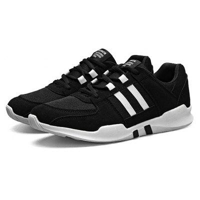 Male Casual Lace Up Split Joint Walking Sneakers