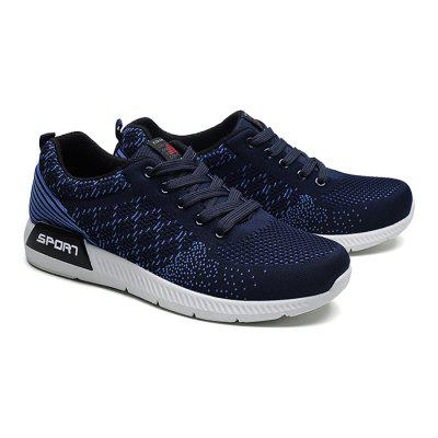 Male Knitted Lace Up Light Sports Running SneakersMen's Sneakers<br>Male Knitted Lace Up Light Sports Running Sneakers<br><br>Closure Type: Lace-Up<br>Contents: 1 x Pair of Shoes<br>Decoration: Weave<br>Function: Slip Resistant<br>Materials: Rubber, Woven Fabric<br>Occasion: Sports, Running, Outdoor Clothing, Daily, Casual<br>Outsole Material: Rubber<br>Package Size ( L x W x H ): 33.00 x 22.00 x 11.00 cm / 12.99 x 8.66 x 4.33 inches<br>Package Weights: 0.77kg<br>Seasons: Autumn,Spring<br>Style: Modern, Leisure, Comfortable, Casual<br>Toe Shape: Round Toe<br>Type: Sports Shoes<br>Upper Material: Woven Fabric