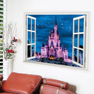 3D Fake Window Castle Wall StickerWall Stickers<br>3D Fake Window Castle Wall Sticker<br><br>Material: Vinyl(PVC)<br>Package Contents: 1 x Wall Sticker<br>Package size (L x W x H): 50.00 x 4.00 x 2.00 cm / 19.69 x 1.57 x 0.79 inches<br>Package weight: 0.3400 kg<br>Product size (L x W x H): 50.00 x 70.00 x 2.00 cm / 19.69 x 27.56 x 0.79 inches<br>Product weight: 0.3200 kg