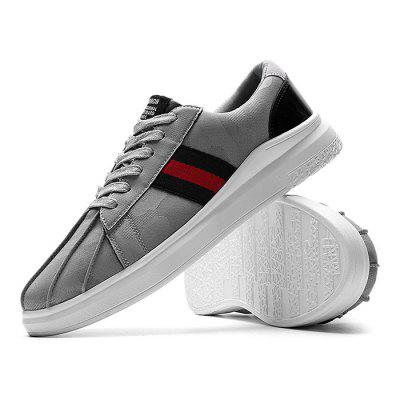 Male Casual Breathable Athletic Lace Up Running ShoesMen's Sneakers<br>Male Casual Breathable Athletic Lace Up Running Shoes<br><br>Closure Type: Lace-Up<br>Contents: 1 x Pair of Shoes<br>Decoration: Weave<br>Materials: Woven Fabric, PU<br>Occasion: Sports, Outdoor Clothing, Daily, Casual, Running<br>Outsole Material: PU<br>Package Size ( L x W x H ): 33.00 x 22.00 x 11.00 cm / 12.99 x 8.66 x 4.33 inches<br>Package Weights: 0.82kg<br>Pattern Type: Stripe<br>Seasons: Autumn,Spring<br>Style: Modern, Leisure, Fashion, Casual<br>Toe Shape: Round Toe<br>Type: Casual Shoes<br>Upper Material: Woven Fabric