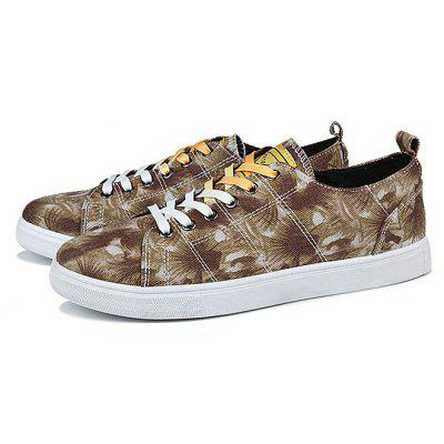 Buy BROWN Male Lace Up Pattern Outdoor Walking Athletic Shoes for $24.99 in GearBest store