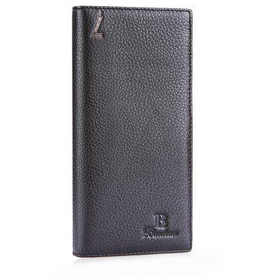 Buy COFFEE Banlear Solid Color Men Letter Bifold Wallet for $14.95 in GearBest store