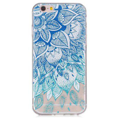 Blue Leaf Pattern Phone Cover Case for iPhone 6 / 6S
