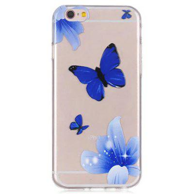 Blue Butterfly Pattern Phone Cover Case for iPhone 6 / 6S