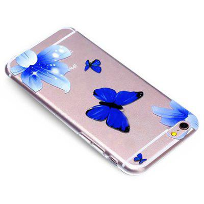 Blue Butterfly Pattern Phone Cover Case for iPhone 6 / 6SiPhone Cases/Covers<br>Blue Butterfly Pattern Phone Cover Case for iPhone 6 / 6S<br><br>Features: Anti-knock, Dirt-resistant<br>Material: TPU<br>Package Contents: 1 x Case<br>Package size (L x W x H): 21.50 x 13.00 x 2.00 cm / 8.46 x 5.12 x 0.79 inches<br>Package weight: 0.0600 kg<br>Product size (L x W x H): 14.00 x 7.00 x 0.90 cm / 5.51 x 2.76 x 0.35 inches<br>Product weight: 0.0200 kg<br>Style: Ultra Slim, Modern