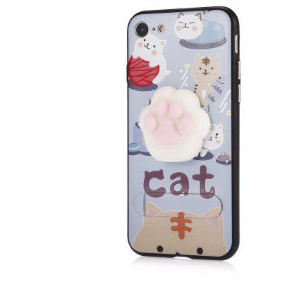 3D Solid Cat-pad Phone Case Stand Cover for iPhone 7