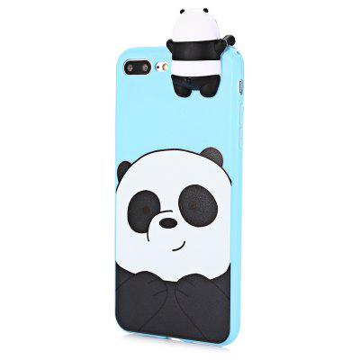 3D Solid Cartoon Panda Silicone Phone Case for iPhone 7 Plus