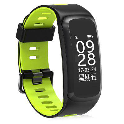 NO.1 F4 Heart Rate SmartbandSmart Watches<br>NO.1 F4 Heart Rate Smartband<br><br>Alert type: Vibration<br>Band material: TPU<br>Band size: 23.5 x 1.8 cm<br>Battery  Capacity: 130mAh<br>Bluetooth calling: Callers name display,Phone call reminder<br>Bluetooth Version: Bluetooth 4.0<br>Brand: NO.1<br>Built-in chip type: NRF51822<br>Case material: ABS,PC<br>Charging Time: About 2hours<br>Compatability: Android 4.4 or above and iOS 9.0 or above<br>Compatible OS: Android, IOS<br>Dial size: 5.0 x 2.0 x 1.0 cm<br>Health tracker: Heart rate monitor,Pedometer,Sedentary reminder,Sleep monitor<br>IP rating: IP68<br>Language: English,Simplified Chinese<br>Notification type: Facebook, Wechat, Twitter, WhatsApp, Skype<br>Operating mode: Touch Key<br>Package Contents: 1 x Smartband, 1 x USB Cable, 1 x English-Chinese Manual<br>Package size (L x W x H): 11.00 x 9.00 x 3.00 cm / 4.33 x 3.54 x 1.18 inches<br>Package weight: 0.0830 kg<br>People: Female table,Male table<br>Product size (L x W x H): 23.50 x 2.00 x 1.00 cm / 9.25 x 0.79 x 0.39 inches<br>Product weight: 0.0240 kg<br>RAM: 16K<br>Remote control function: Remote Camera<br>ROM: 256K<br>Screen: OLED<br>Shape of the dial: Rectangle<br>Standby time: 7 - 10 days<br>Type of battery: Lithium-ion polymer battery<br>Waterproof: Yes