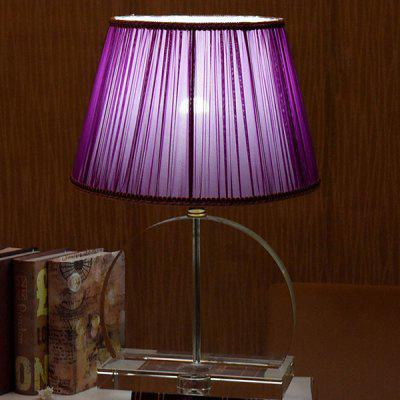 E27 Simple Style Energy-saving Desk Light 220VTable Lamps<br>E27 Simple Style Energy-saving Desk Light 220V<br><br>Available Color: Purple<br>Bulb Base Type: E27<br>Input Voltage: 220V<br>Material: Cloth, Crystal, Hardware<br>Package Contents: 1 x Desk Lamp<br>Package size (L x W x H): 48.00 x 48.00 x 60.00 cm / 18.9 x 18.9 x 23.62 inches<br>Package weight: 7.0300 kg<br>Powered Source: AC<br>Product size (L x W x H): 38.00 x 38.00 x 53.50 cm / 14.96 x 14.96 x 21.06 inches<br>Product weight: 6.0000 kg<br>Suitable for: Home use, Home Decoration