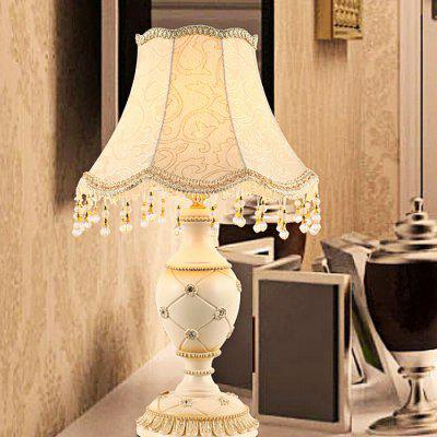 European Style Study Table Lamp 220VTable Lamps<br>European Style Study Table Lamp 220V<br><br>Available Color: Beige<br>Bulb Base Type: E27<br>Material: Cloth, Resin<br>Package Contents: 1 x Light, 1 x Assembly Parts<br>Package size (L x W x H): 43.00 x 43.00 x 67.00 cm / 16.93 x 16.93 x 26.38 inches<br>Package weight: 5.0300 kg<br>Powered Source: AC<br>Product size (L x W x H): 33.00 x 33.00 x 57.00 cm / 12.99 x 12.99 x 22.44 inches<br>Product weight: 4.0000 kg<br>Suitable for: Home Decoration, Home use