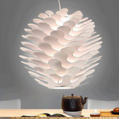 Nordic Minimalist Pine Cone Aluminum Pendant Light 220VPendant Light<br>Nordic Minimalist Pine Cone Aluminum Pendant Light 220V<br><br>Battery Included: No<br>Bulb Base: E27<br>Bulb Included: No<br>Chain / Cord Length ( CM ): 100<br>Features: Designers<br>Fixture Height ( CM ): 45<br>Fixture Length ( CM ): 50<br>Fixture Width ( CM ): 50<br>Light Direction: Ambient Light<br>Number of Bulb: 1 Bulb<br>Number of Bulb Sockets: 1<br>Package Contents: 1 x Light, 1 x Assembly Parts<br>Package size (L x W x H): 35.00 x 35.00 x 40.00 cm / 13.78 x 13.78 x 15.75 inches<br>Package weight: 3.5300 kg<br>Product weight: 3.0000 kg<br>Shade Material: Aluminum, Aluminum Alloy<br>Style: Modern/Contemporary<br>Suggested Room Size: 20 - 30?<br>Suggested Space Fit: Indoors<br>Type: Pendant Light<br>Voltage ( V ): AC220