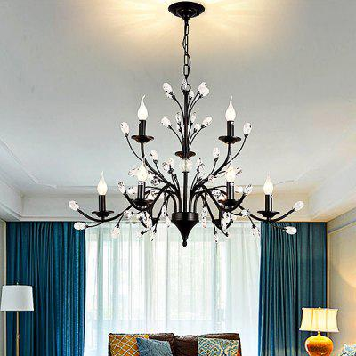 LightMyself YQ1006 - 9 E12 American Iron Crystal Chandelier