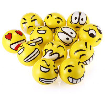 6.3cm Juguete Blando Emoticon con Espuma de 12pcs / Set