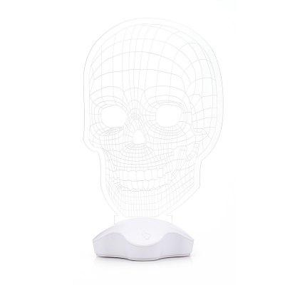 LY GY - A030 3D Effect Skull LED Night LightNight Lights<br>LY GY - A030 3D Effect Skull LED Night Light<br><br>Battery Type: AAA<br>Brand: LY<br>Luminance: 120Lm<br>Material: Acrylic, Plastic<br>Numbers of LED: 7<br>Optional Color: Transparent<br>Package Contents: 1 x Acrylic Plate, 1 x LED Light Base, 1 x USB Wire<br>Package size (L x W x H): 24.50 x 17.50 x 6.50 cm / 9.65 x 6.89 x 2.56 inches<br>Package weight: 0.4200 kg<br>Power Supply: Battery<br>Product size (L x W x H): 23.00 x 10.50 x 0.50 cm / 9.06 x 4.13 x 0.2 inches<br>Product weight: 0.2300 kg<br>Type: Night Light
