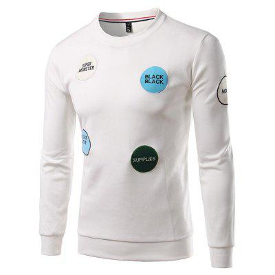 Casual Long Sleeve Embroidery Sweatshirt