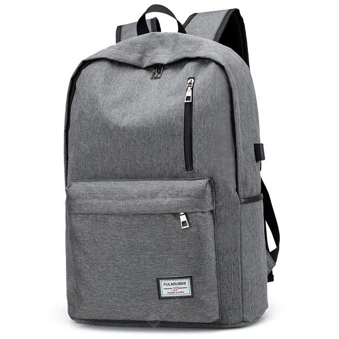 GRAY Leisure Durable Computer Backpack