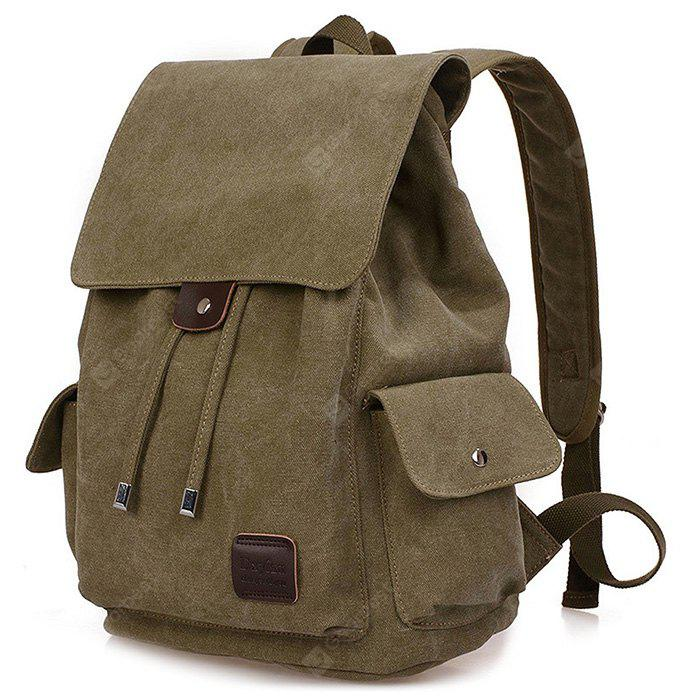 ARMY GREEN Fashion Canvas Computer Backpack
