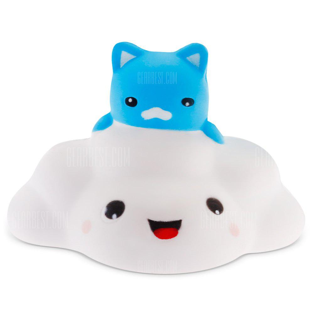 COLORMIX Cute Cartoon Cloud Cat PU Foam Squishy Toy 1pc
