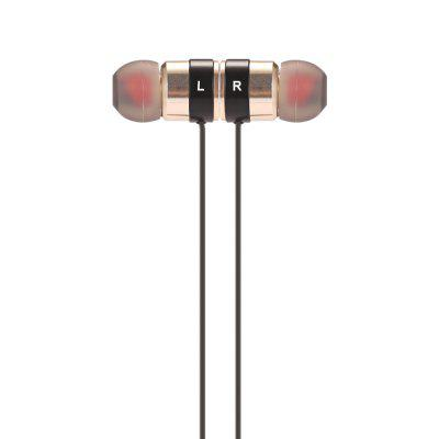 BT - KDK04 Magnetic Bluetooth Sports EarbudsEarbud Headphones<br>BT - KDK04 Magnetic Bluetooth Sports Earbuds<br><br>Application: Running, Sport<br>Battery Capacity(mAh): 60mAh Li-ion Battery<br>Battery Types: Built-in<br>Bluetooth distance: W/O obstacles 10m<br>Bluetooth mode: Hands free<br>Bluetooth protocol: A2DP,AVRCP,HFP,HSP<br>Bluetooth Version: V4.1 + EDR<br>Cable Length (m): 0.6m<br>Charging Time.: 1H<br>Compatible with: iPhone, iPod, Mobile phone<br>Connecting interface: Micro USB<br>Connectivity: Wired and Wireless<br>Frequency response: 20-20000Hz<br>Function: Answering Phone, Bluetooth, Noise Cancelling, Song Switching, Voice control, Voice Prompt<br>Impedance: 16ohms<br>Language: English<br>Material: Metal, Plastic<br>Model: BT - KDK04<br>Music Time: 5H<br>Package Contents: 1 x Earbuds, 1 x Cable Buckle, 2 x Pair of Standby Earbud Tips, 1 x Micro USB Charging Cable, 1 x English and Chinese Manual, 1 x Pair of Standby Earbud Hooks<br>Package size (L x W x H): 18.00 x 11.00 x 5.00 cm / 7.09 x 4.33 x 1.97 inches<br>Package weight: 0.1060 kg<br>Product weight: 0.0150 kg<br>Sensitivity: 98dB<br>Standby time: 180H<br>Type: In-Ear<br>Wearing type: In-Ear