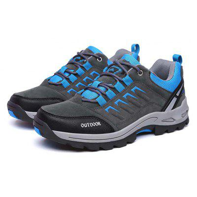 Male Athletic Lace Up Soft Light Outdoor Hiking Shoes