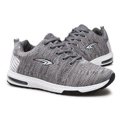 Male Breathable Knitted Lace Up Athletic Running ShoesAthletic Shoes<br>Male Breathable Knitted Lace Up Athletic Running Shoes<br><br>Closure Type: Lace-Up<br>Contents: 1 x Pair of Shoes<br>Decoration: Weave<br>Function: Slip Resistant<br>Materials: Rubber, Woven Fabric<br>Occasion: Casual, Sports, Running, Outdoor Clothing, Daily<br>Outsole Material: Rubber<br>Package Size ( L x W x H ): 33.00 x 24.00 x 13.00 cm / 12.99 x 9.45 x 5.12 inches<br>Package Weights: 0.82kg<br>Seasons: Autumn,Spring<br>Style: Leisure, Comfortable, Casual<br>Toe Shape: Round Toe<br>Type: Sports Shoes<br>Upper Material: Woven Fabric