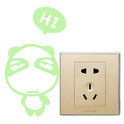 Fluorescence Cartoon Bear Luminous Switch Wall Sticker