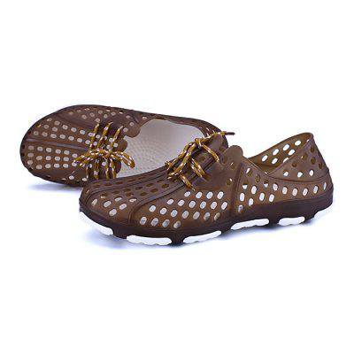 Male Breathable Mesh Water Slip On Beach SandalsMens Sandals<br>Male Breathable Mesh Water Slip On Beach Sandals<br><br>Closure Type: Slip-On<br>Contents: 1 x Pair of Shoes<br>Decoration: Hollow Out<br>Materials: PVC, EVA<br>Occasion: Beach, Casual, Holiday<br>Outsole Material: PVC<br>Package Size ( L x W x H ): 31.00 x 21.00 x 11.00 cm / 12.2 x 8.27 x 4.33 inches<br>Package Weights: 0.47kg<br>Seasons: Summer<br>Style: Leisure, Fashion, Comfortable, Casual<br>Toe Shape: Round Toe<br>Type: Sandals<br>Upper Material: EVA