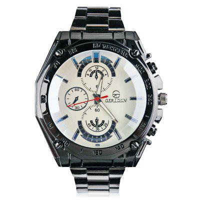GERIDUN Men Waterproof Steel Band Quartz WatchMens Watches<br>GERIDUN Men Waterproof Steel Band Quartz Watch<br><br>Band material: Steel<br>Band size: 21.5 x 2cm<br>Brand: GERIDUN<br>Case material: Steel<br>Clasp type: Butterfly clasp<br>Dial size: 5 x 5 x 1.3cm<br>Display type: Analog<br>Movement type: Quartz watch<br>Package Contents: 1 x Watch, 1 x Box<br>Package size (L x W x H): 8.00 x 7.50 x 5.50 cm / 3.15 x 2.95 x 2.17 inches<br>Package weight: 0.1100 kg<br>Product size (L x W x H): 21.50 x 5.00 x 1.30 cm / 8.46 x 1.97 x 0.51 inches<br>Product weight: 0.0600 kg<br>Shape of the dial: Round<br>Watch mirror: Acrylic<br>Watch style: Fashion<br>Watches categories: Men<br>Water resistance : Life water resistant