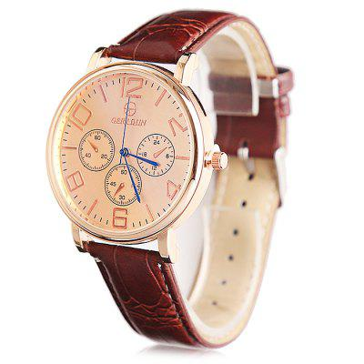 GERIDUN Men Waterproof Simple Wrist WatchMens Watches<br>GERIDUN Men Waterproof Simple Wrist Watch<br><br>Band material: PU<br>Band size: 24.5 x 2cm<br>Brand: GERIDUN<br>Case material: Steel<br>Clasp type: Pin buckle<br>Dial size: 3 x 3 x 0.7cm<br>Display type: Analog<br>Movement type: Quartz watch<br>Package Contents: 1 x Watch, 1 x Box<br>Package size (L x W x H): 8.00 x 7.50 x 5.50 cm / 3.15 x 2.95 x 2.17 inches<br>Package weight: 0.0900 kg<br>Product size (L x W x H): 24.50 x 3.00 x 0.70 cm / 9.65 x 1.18 x 0.28 inches<br>Product weight: 0.0400 kg<br>Shape of the dial: Round<br>Watch mirror: Acrylic<br>Watch style: Casual<br>Watches categories: Men