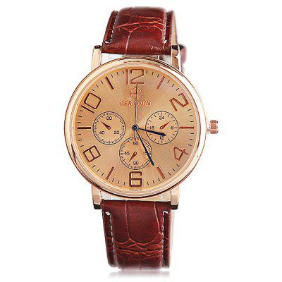 GERIDUN Men Waterproof Simple Wrist Watch