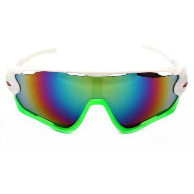 Buy WHITE AND GREEN CTSmart 9270 Outdoor Sports Cycling Glasses Sets for $12.36 in GearBest store