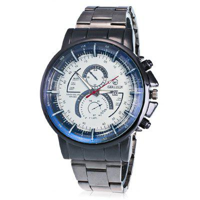 GERIDUN Men Precise Scale Dial Quartz Watch