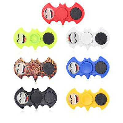 ABS Luminous Smiley Face Bat Shape Fidget SpinnerFidget Spinners<br>ABS Luminous Smiley Face Bat Shape Fidget Spinner<br><br>Center Bearing Material: Stainless Steel<br>Color: White<br>Features: Flashing, LED Light<br>Frame material: ABS<br>Package Contents: 1 x Fidget Spinner<br>Package size (L x W x H): 9.00 x 9.00 x 1.50 cm / 3.54 x 3.54 x 0.59 inches<br>Package weight: 0.0560 kg<br>Product size (L x W x H): 8.30 x 4.00 x 1.30 cm / 3.27 x 1.57 x 0.51 inches<br>Product weight: 0.0290 kg<br>Swing Numbers: Dual Bar<br>Type: Dual Blade, Bat