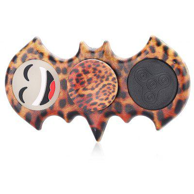 ABS Luminous Smiley Face Bat Shape Fidget Spinner