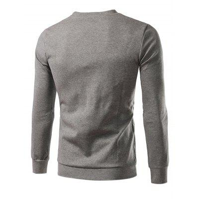 Casual Classic Simple Long Sleeve Printing SweatshirtMens Hoodies &amp; Sweatshirts<br>Casual Classic Simple Long Sleeve Printing Sweatshirt<br><br>Material: Cotton, Polyester<br>Package Contents: 1 x Sweatshirt<br>Package size: 20.00 x 20.00 x 2.00 cm / 7.87 x 7.87 x 0.79 inches<br>Package weight: 0.4400 kg<br>Product weight: 0.4000 kg