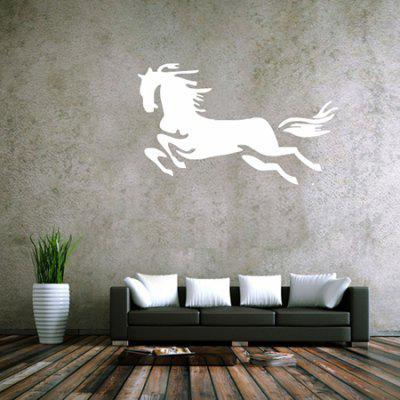 Buy WHITE Creative Running Horse Design Wall Sticker for $6.18 in GearBest store