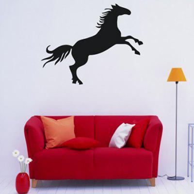 Buy BLACK Creative Horse Design Wall Sticker for $4.71 in GearBest store