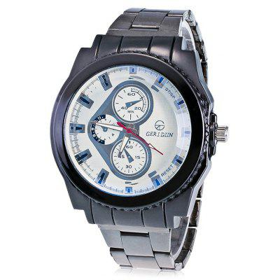 GERIDUN Men Fashionable Unique Steel Band Wrist Watch
