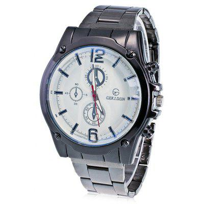 GERIDUN Men Business Steel Band Wrist Watch