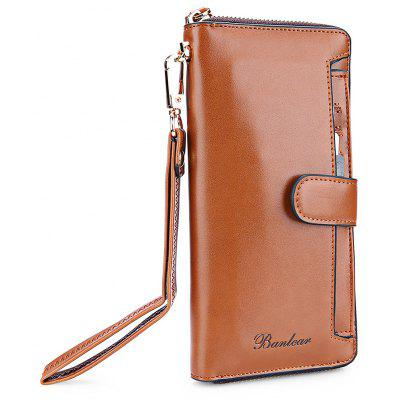 Buy BROWN Banlear Fashion Solid Color Men Clutch Wallet for $26.53 in GearBest store